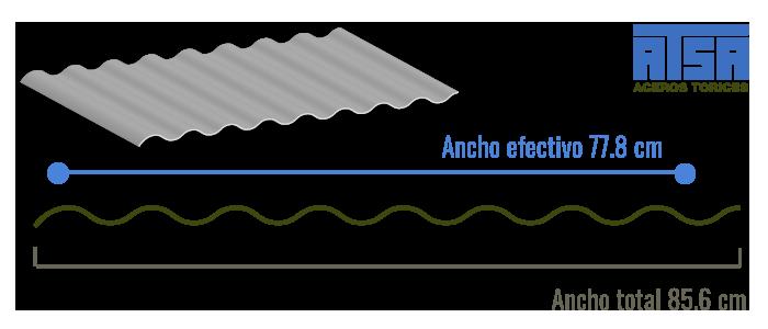 Perfil O-30 lámina Ternium