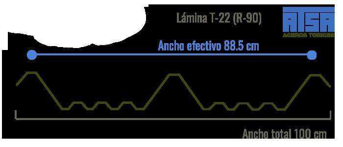 Lámina traslúcida T22