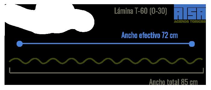 Lámina traslúcida T60 O30