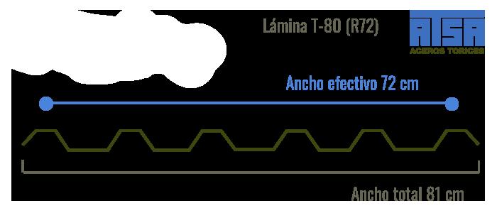 Lámina traslúcida T80 R72