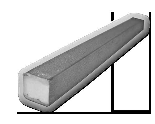 Perfil cuadrado macizo de acero