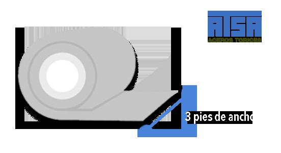 Rollo de 3 pies de ancho